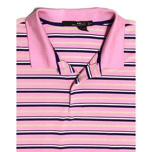 Ralph Lauren RLX Striped 3 Button Polo Shirt